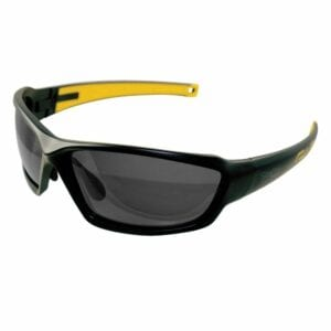 Riesling Safety Glasses, Black with Polarized Smoke Lens