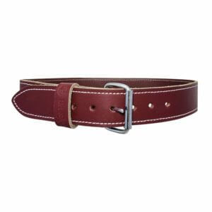 "2"" Heavy Duty Top Grain Leather Belt- Large (Fits 31-38"" waist size)"