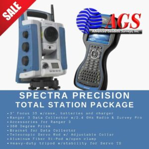 Spectra Precision Focus 35 and Ranger 3 Total Station Package | Land Surveying Equipment | AGS